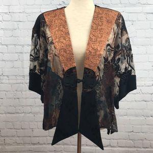 SPENCER ALEXIS Floral Lace Kimono Shawl sz S